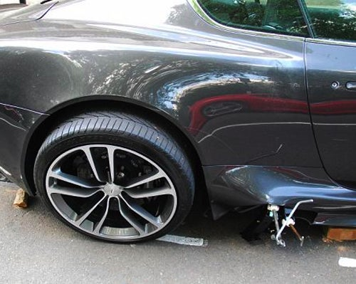 An Aston Martin DBS On Blocks