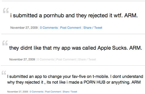 Apple Rejected Me, a Site for Scorned App Developers