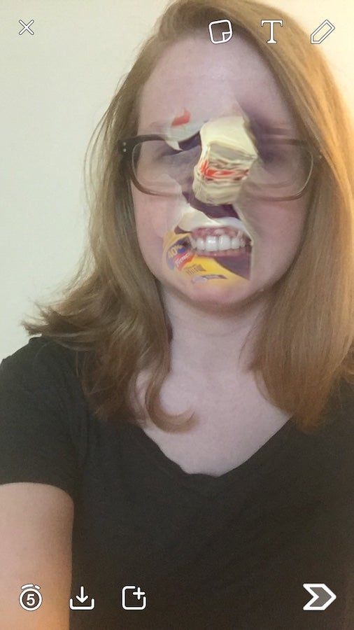 Snapchat's New Face-Swap Feature Is a Good Reminder of All the Weird Shit in Your Phone's Camera Roll