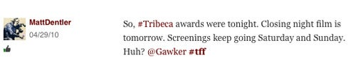 Tribeca Film Festival Tries To Take Out One of Our Tweeters