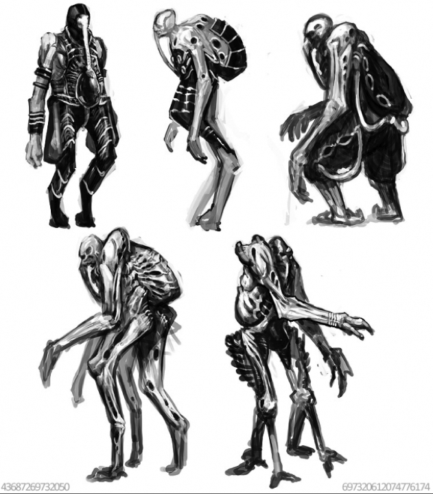 Is this concept art of the Space Jockey from the Alien prequel?