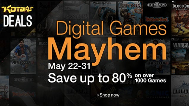Here's a Fresh Batch of Deals from Amazon's Digital Game Mayhem Event