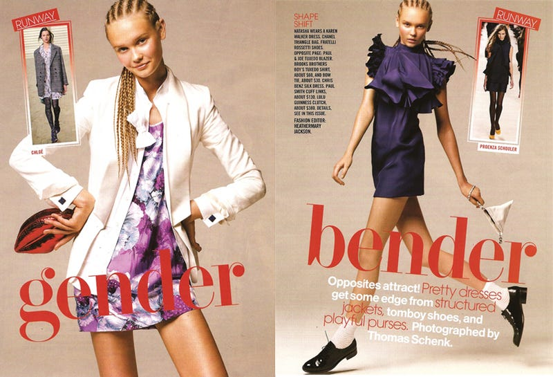 "Teen Vogue: Be A ""Gender Bender"" With A Blazer & Cornrows"