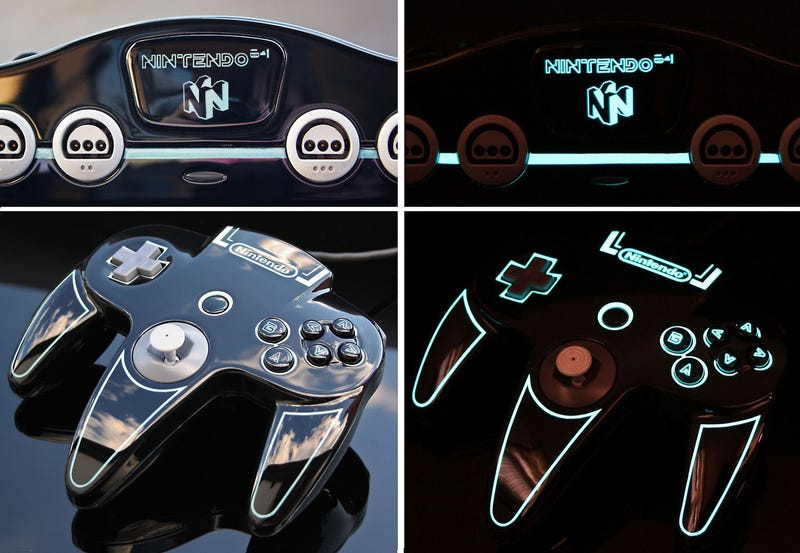 An N64 That Looks Like It's Straight Out of Tron