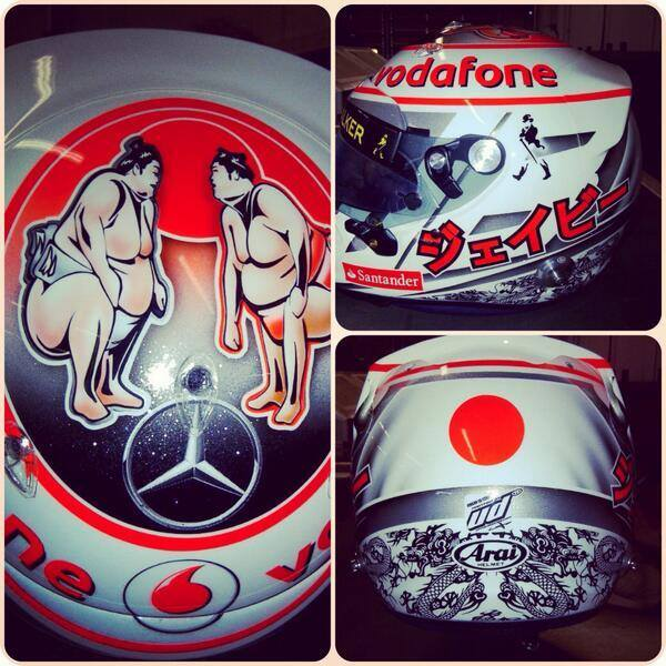 Jenson Button's Helmet For The Japanese Grand Prix Is All Sorts Of Win