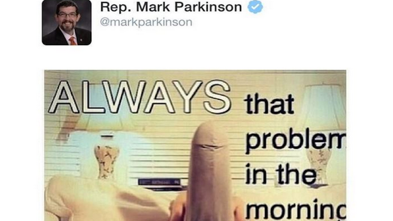 GOP Lawmaker Tweets Photo of Giant Penis, Says He Was Hacked