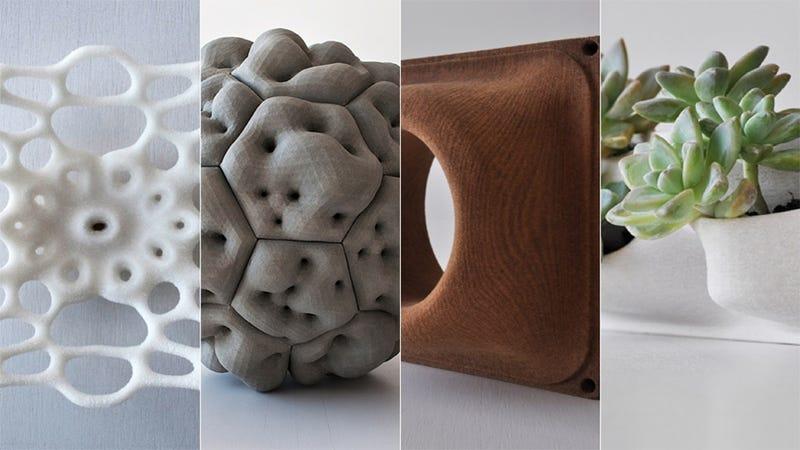 Adiós al plástico, impresión 3D con madera, sal y cemento
