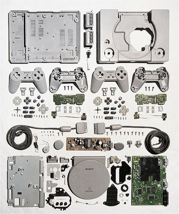 A PlayStation in Pieces Looks Strangely Beautiful