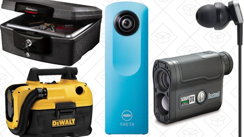 Saturday's Best Deals: Spherical Camera, Fire-Proof Safe, Wet/Dry Vac, and More