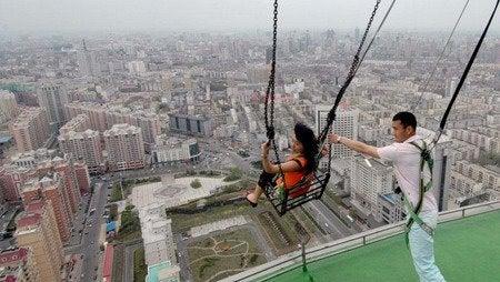 World's Highest Swing Looks Terrifying