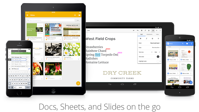 Google Unveils Slides for Android, Native Docx Editing, and More