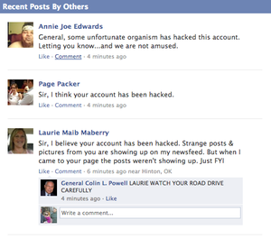 Either Colin Powell's Facebook Was Hacked Or He Has Had a Sudden Change of Heart About George W. Bush