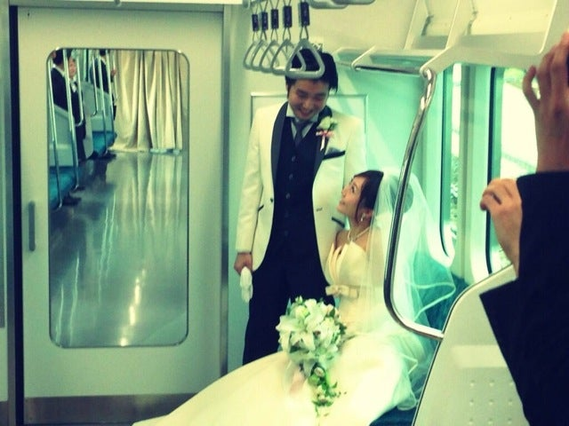 Getting Married on a Tokyo Train Isn't Exactly Romantic