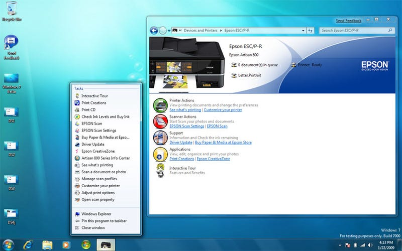 Windows 7 Device Stage and Productivity Tips