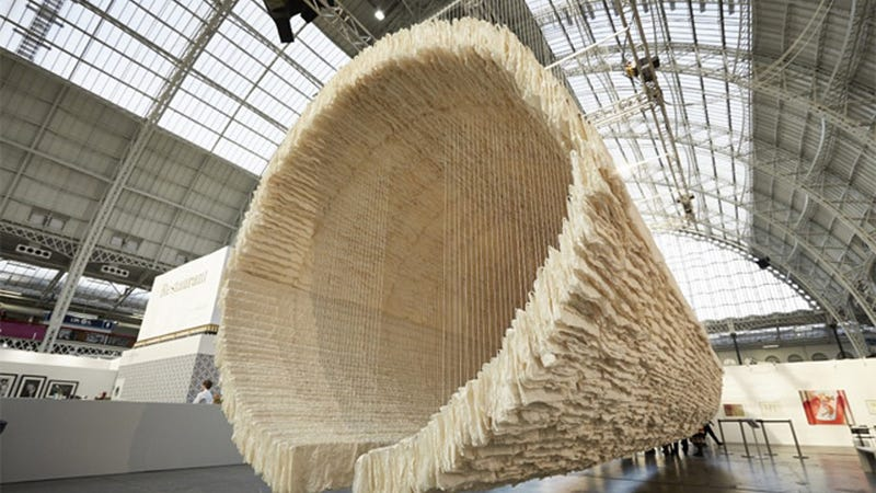 8,000 Sheets Of Rice Paper Can Organize Into Art