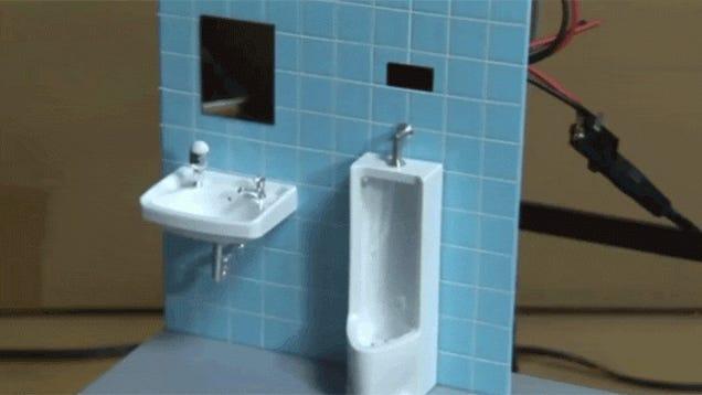 Heroic Man Makes Working Toilet for His Toys
