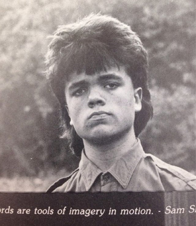 Peter Dinklage's Mulleted Yearbook Photo Only Makes Him Seem Cooler