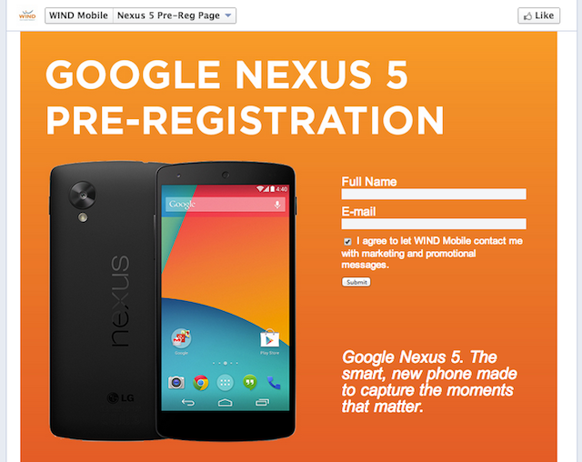Nexus 5 Leaks Again for 'Pre-Registration' with a Full Spec List