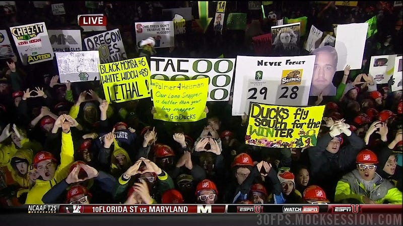 """Kiffen [Sic] Has Soft Balls"": Your Roundup Of The Best Signs Behind The College Gameday Crew"