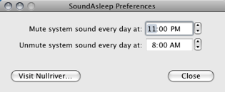 Mute Your Computer on a Schedule with SoundAsleep