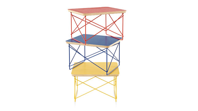 These Limited Edition Eames Tables Bring a Perfect Pop of Primary Color