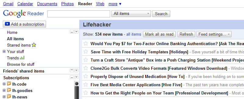 Google Reader Absolutely Compact Gets More On-Screen