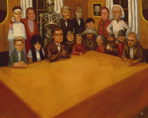 A meeting of famous time-travelers (and other cult-inspired art)