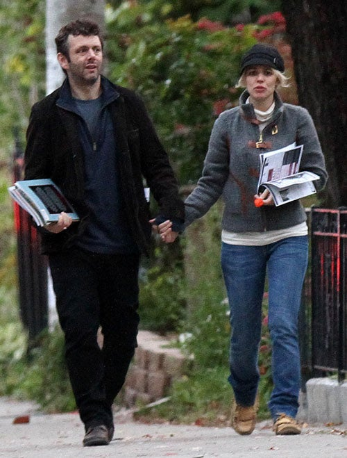 Rachel McAdams And Michael Sheen En Route To First Base