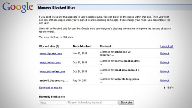 How to Block Any Site from Showing Up in Google Search Results