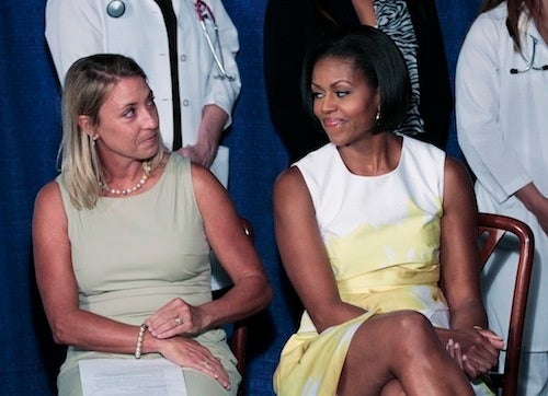 Michelle Obama Exchanges A Knowing Glance