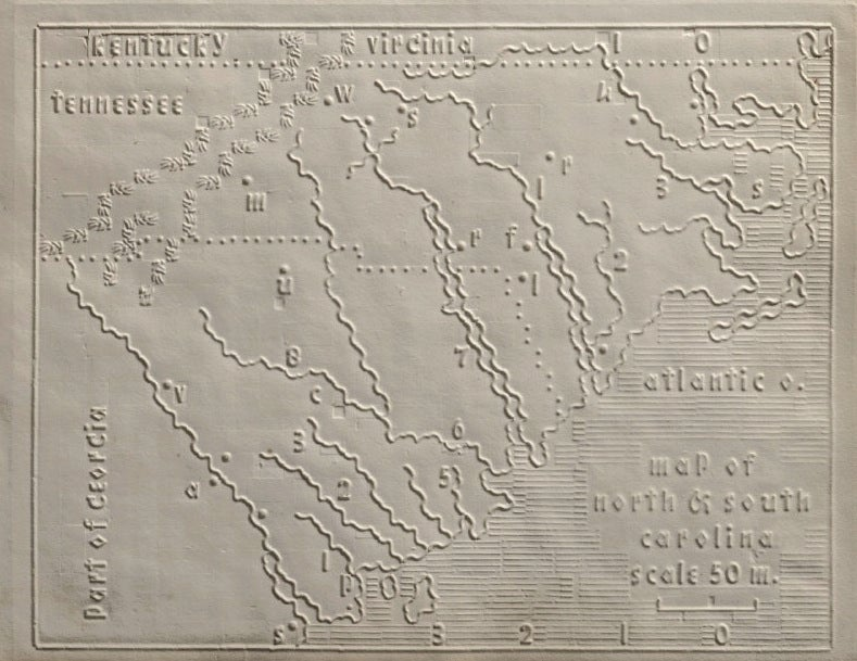 Tactile maps from an 1830s atlas for the blind