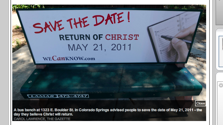 Save the Date: Jesus Coming Back May 21, 2011