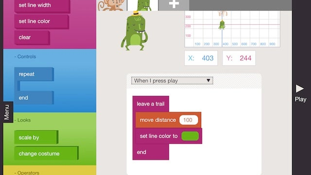Hopscotch HD Introduces Kids to Programming