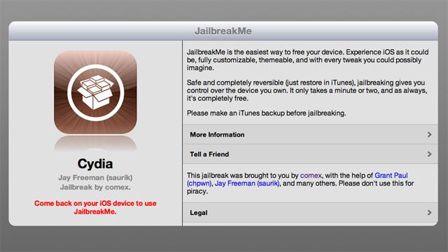 JailBreakMe 3.0 for the iPad 2 and iOS 4.3.3 now live (Updated)