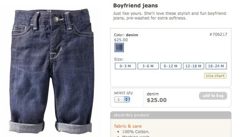 Your Baby Won't Ever Steal Her Boyfriend's Jeans Again!