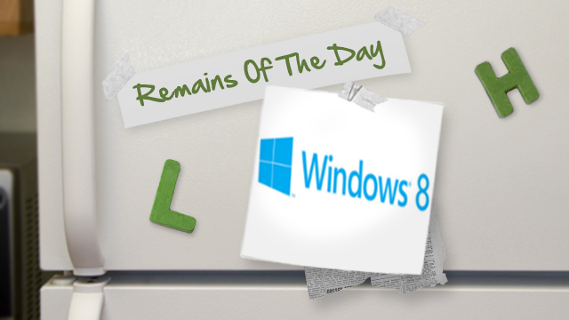 Remains of the Day: Windows 8's Release Preview Arrives This Summer