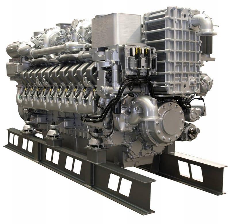 MTU Series 4000 Engine... As In 4000 HP!