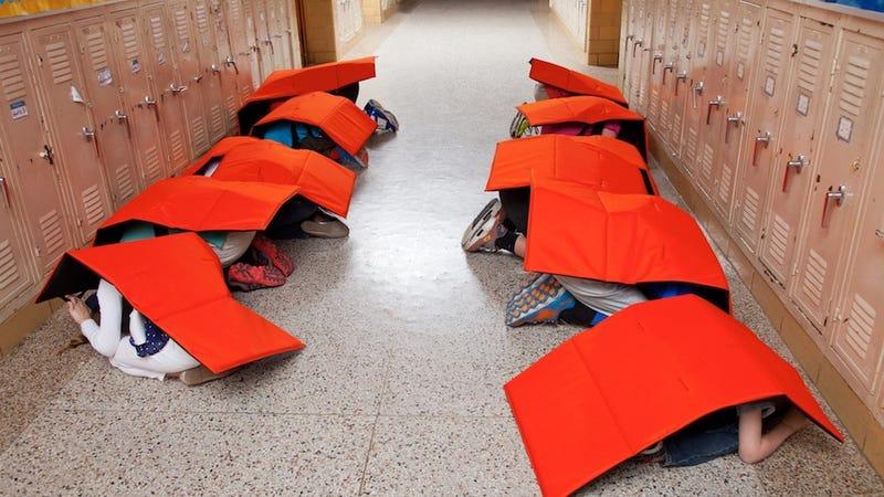 A Company Is Selling Bulletproof Blankets for School Kids
