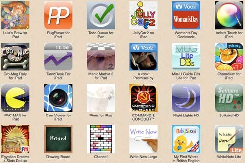 Browse Through 1350 Leaked iPad Apps