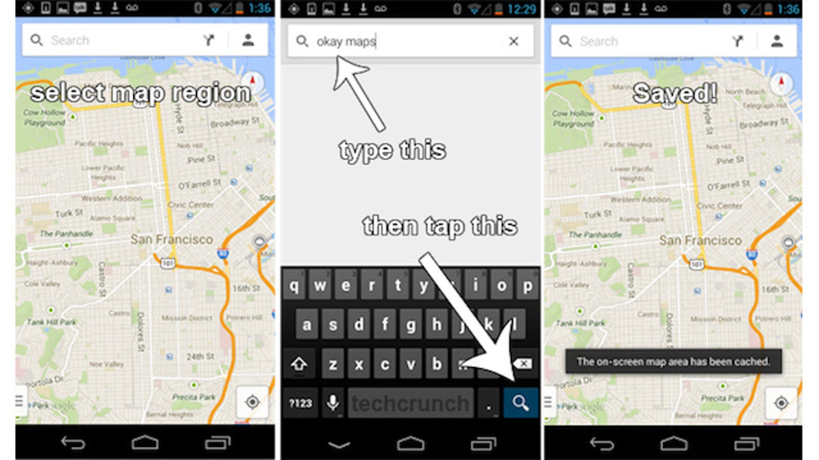 How To Cache Offline Maps In The New Google Maps For Android