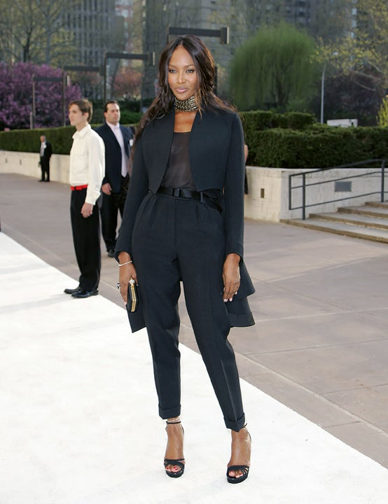 Naomi Campbell Keeps Her Anger, Nipples Under Wraps