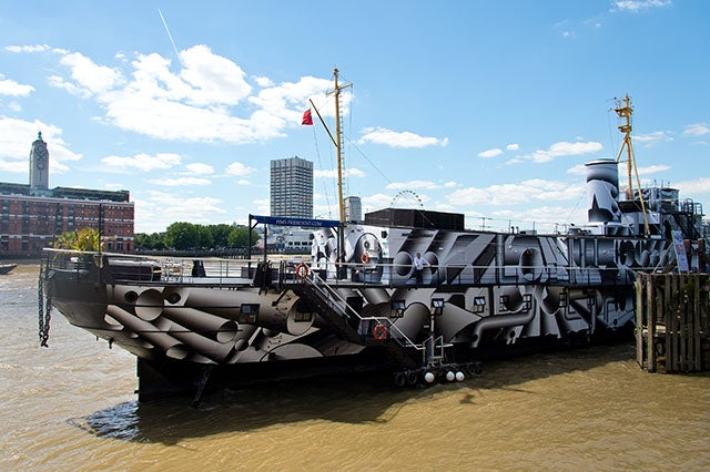 This Century-Old Warship Got a New Dazzle Paint Job To Commemorate WWI