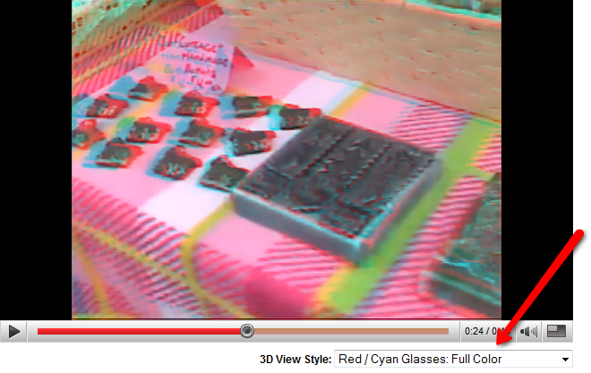 YouTube Experiments with 3D Video Viewing