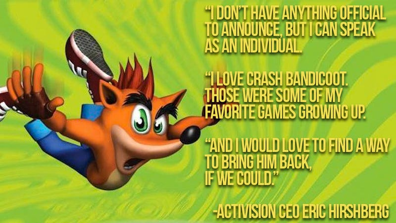Waiting for a Crash Bandicoot Comeback