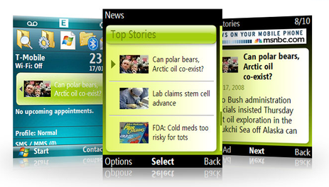 MSN Direct Weather, News and Stocks Comes to Windows Mobile