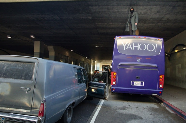 Oakland Rebels So Sickened By Techie Scum, They Barfed on a Yahoo Bus