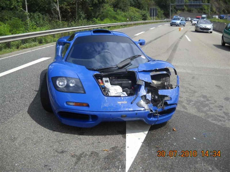 This Is What $130,000 In McLaren F1 Crash Damage Looks Like
