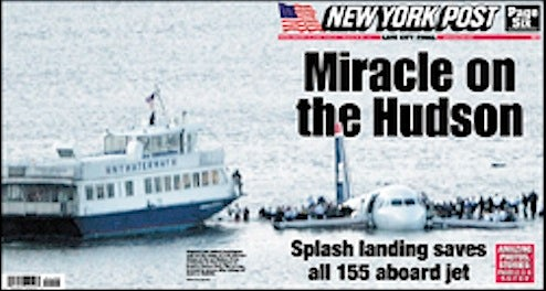 Hudson Crash Story: Best Headline?
