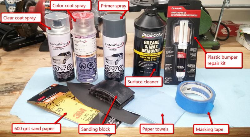 Как покрасить пластиковый бампер