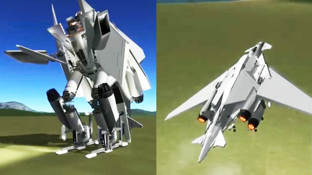 Someone Made A (Mostly) Functional Kerbal Space Program Transformer